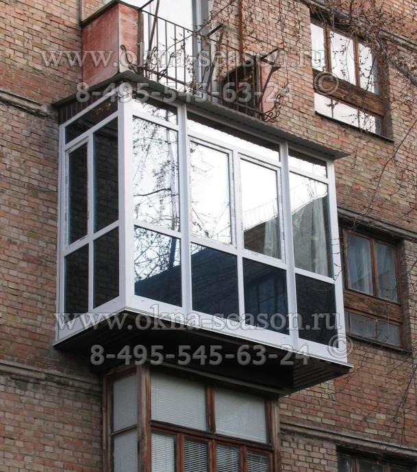Расширение основания балкона плиты.