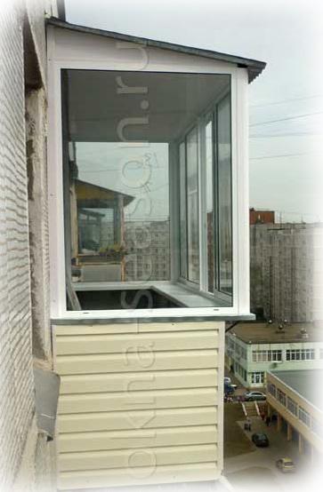 остекление балкона с крышей и выносом