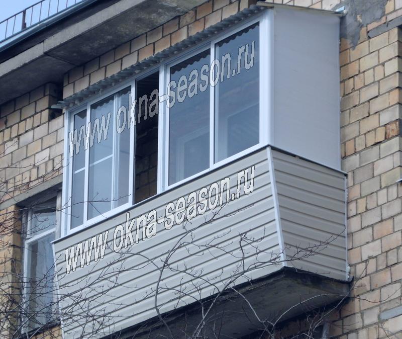 Остекление балкона с выносливость хрущевка.