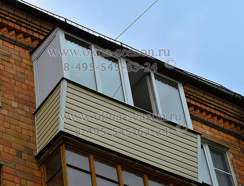 тёплые остекления балкона