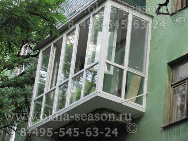 Расширение балкона от плиты пола.