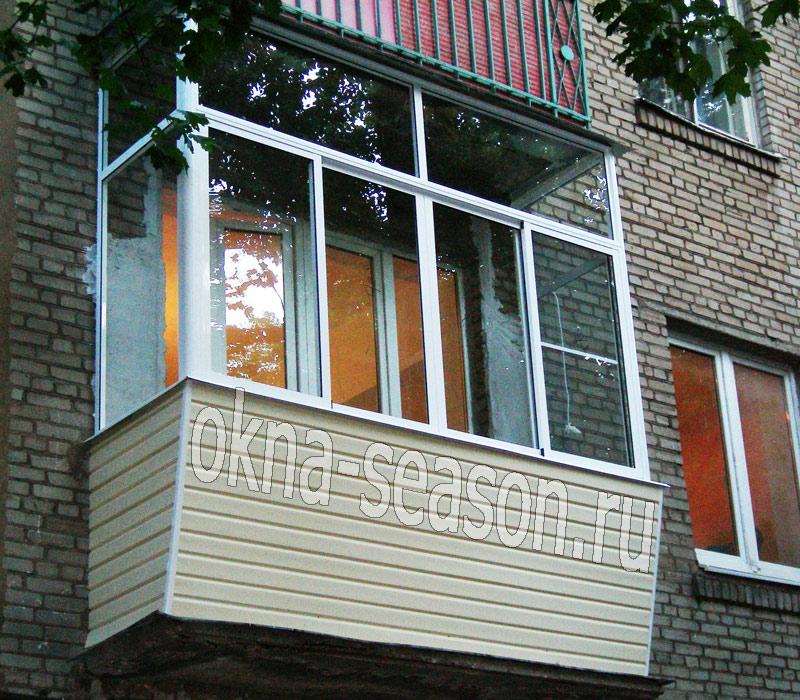 остекление балконов с выносом москва