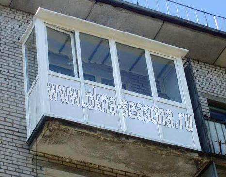 остекление балкона с крышей м выносом