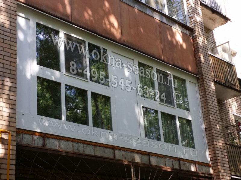 Виды французского остекления балкона в москве и в м.о..