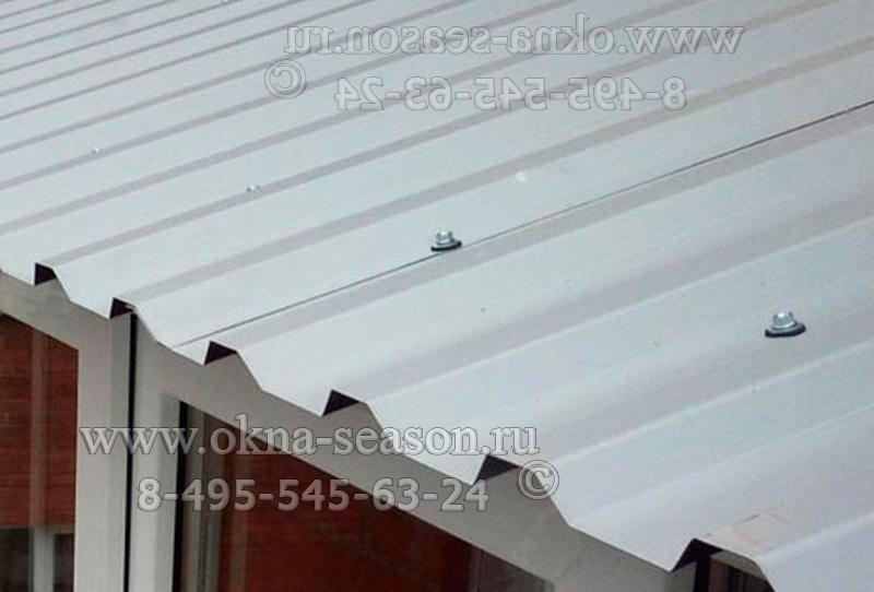 остекление с гофро покрытием крыши