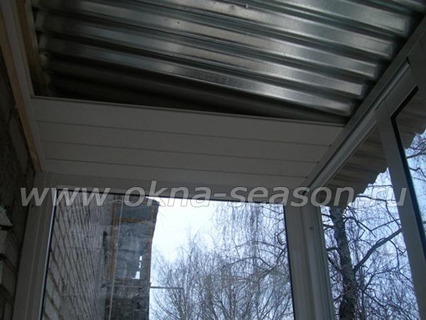 хрущёвка остекление балкона с крышей