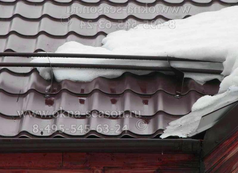 Снегоуловители на крышу остеклёного балкона