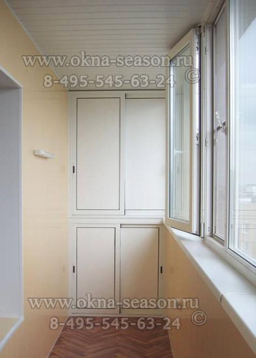 Раздвижные шкафы на лоджию из алюминиевого профиля.